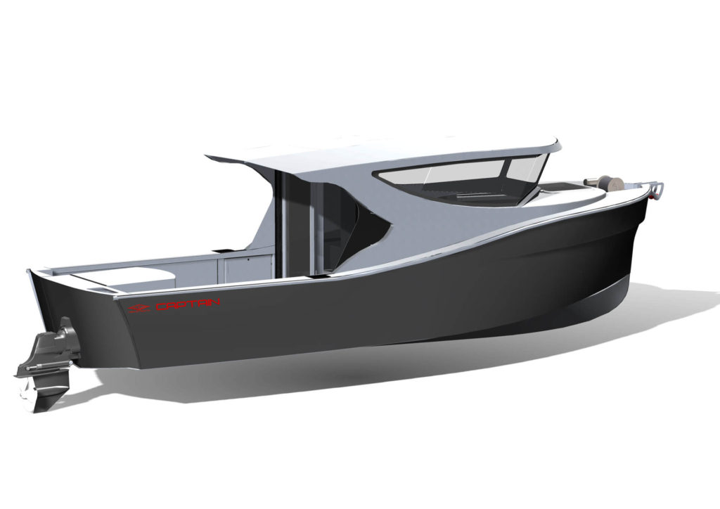 Herley Boat Captain drawing side view