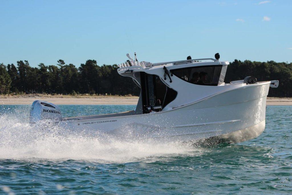 Herley Boats Trailer Boat Sharenko side view