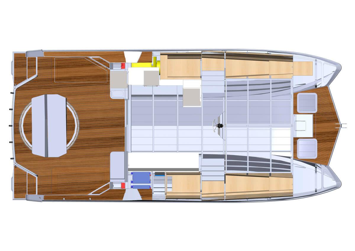 Herley Boats - Electric Hybrid Power Catamaran - Powercat 3400