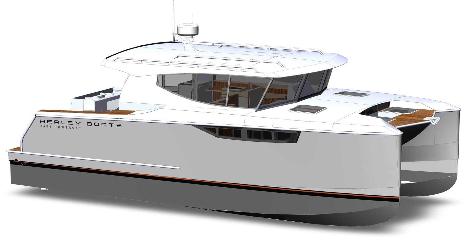Herley Boats Hybrid Catamaran Powercat 3400