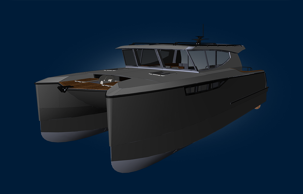 Herley Boats Hybrid Power Catamaran