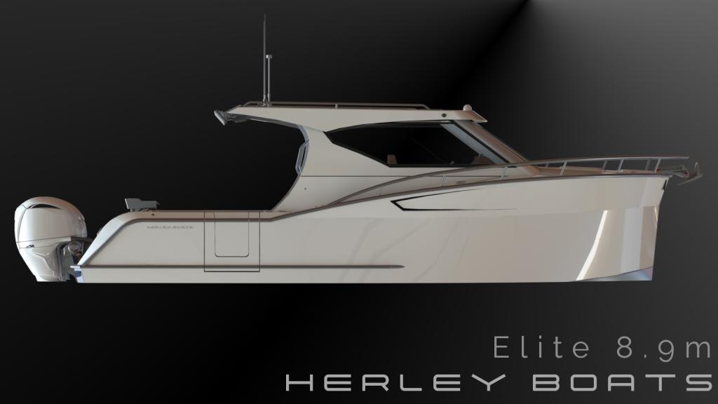 Herley Boats Elite 9 metre aluminium trailer Boat